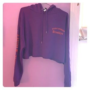 Purple Babe Squad  Cropped Hoodie